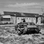 Panzer 38 wreck captured at Manheim hospital April 1945 Germany.