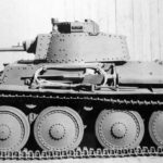 Czechoslovak-designed light tank PzKpfw 38(t) side view 2