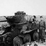 knocked out Panzer 38(t)