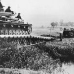 German troops and Panzer IV advancing in Poland