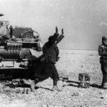 Italian Soldier surrenders Panzer IV 413 to Jawan