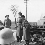 Panzer I and soldiers
