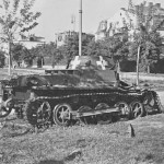 Panzer I destroyed Poland 1939