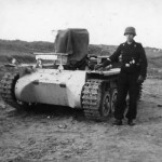 Panzer I ohne Aufbau and soldier