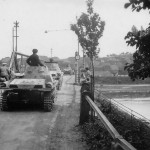 Panzer I of 7 Panzer Division on bridge Tours France 1940