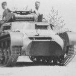 Panzer I tank on road
