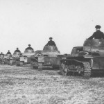 Panzer I tanks column