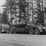 4 Panzer Division Sd Ah 116 trailer and Panzer III Eastern Front
