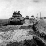 Column of Panzer III tanks on a road in Russia 2