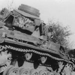 Damaged Panzer III on trailer