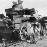 The charred remnants of a german Panzer III 8