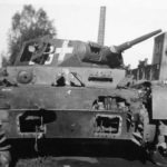 Destroyed Panzer III of the Panzer Regiment 1 1939