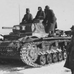 German medium tank Panzer III in winter