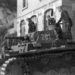 Panzer III tactical number 201 during operations on the Eastern Front in the summer of 1941