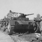 Destroyed Panzer III tactical number 243, Poland 1939