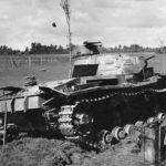 Panzer III Ausf D destoyed