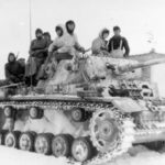 Panzer III Ausf M lang with provisional winter camouflage
