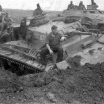 Panzer III code II02 and Sdkfz 251 of the 9. Panzer Division
