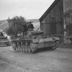 A column of Panzer III tanks Luxembourg