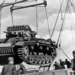 Panzer III March 1941, DAK - tank being loaded into a ship