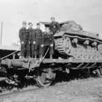 Panzer III of the Panzer Regiment 7 – rail transport