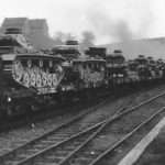 Panzer III being transported on rail car
