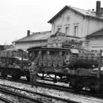 Panzer III of 2 Panzer Regiment on rail car