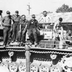 Panzer III tank in a field workshop