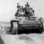 Panzer III with short gun on a typically primitive Russian road