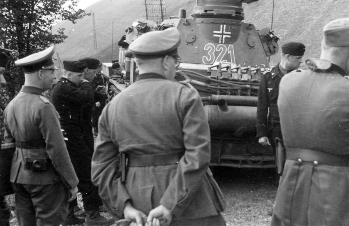 Erwin Rommel and Panzer IV number 321  7th Panzer Division