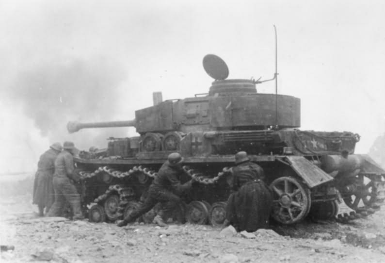 Panzer IV in action Monte Cassino Italy