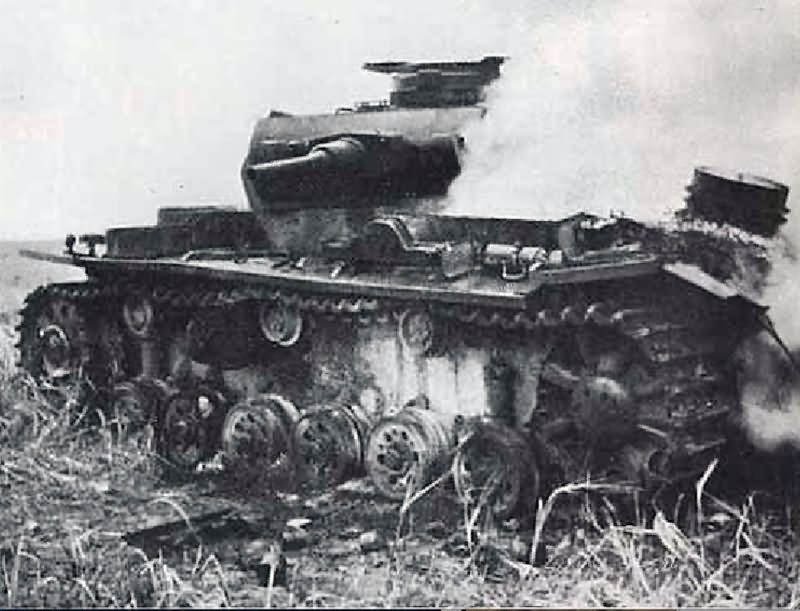 Image result for PANZER 3 TANK DESTROYED