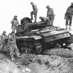 5th Army Troops Inspect burned out Panzer III Italy 1944