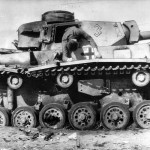 Body of German Soldier on Panzer III Ausf J of the 10th Panzer Division in Tunisia 1943