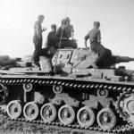 Crew atop a Panzerkampfwagen III 502
