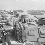 German Panzer III tanks in a scrap yard December 1943