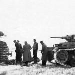 Panzer III 102 and captured KW 1