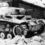 Panzer III 5 in the snow during operations in the winter of 1941-1942