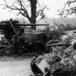 Panzer III from 7th panzer division and SdKfz 8