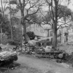 Destroyed Panzer III of the 7th Panzer Division and Sd.Kfzz 8 2