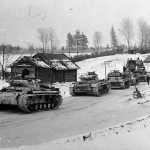 Panzer III Ausf J tanks of the 12 Panzer Division winter camo 3