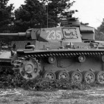Panzer III ausf L code 235 of the 2nd SS Panzer Division Das Reich. Tank tank armed with the long-barrelled 5 cm gun