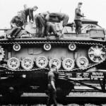 Panzer III on railroad car