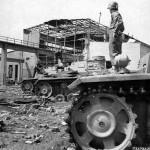 Panzers III Krupp Grusonwerk Factory at Buckau Germany 1945