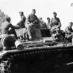 Tank Crews atop Panzer III Eastern Front