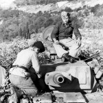 crew members atop a Panzer III Ausf N Italy