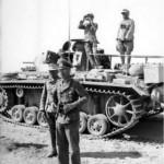 Panzerbefehlswagen III and Generalmajor von Bismarck