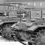 Panzerbefehlswagen III command vehicles rear view