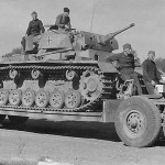Panzerbefehlswagen III of the 10. SS Panzer-Division Frundsberg on trailer