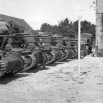 Tank destroyers Panzerjager I in La Rochelle France